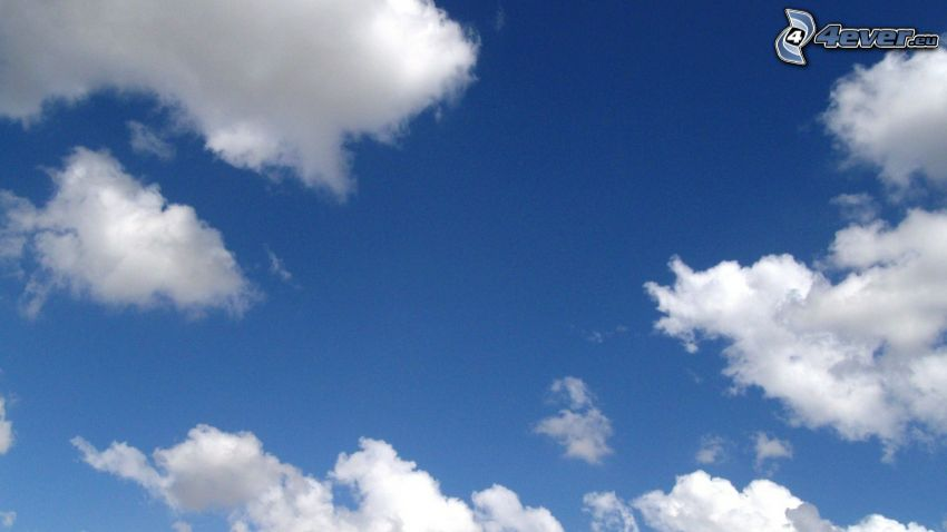 cielo blu, nuvole