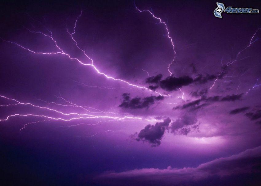fulmini, nuvole, tempesta