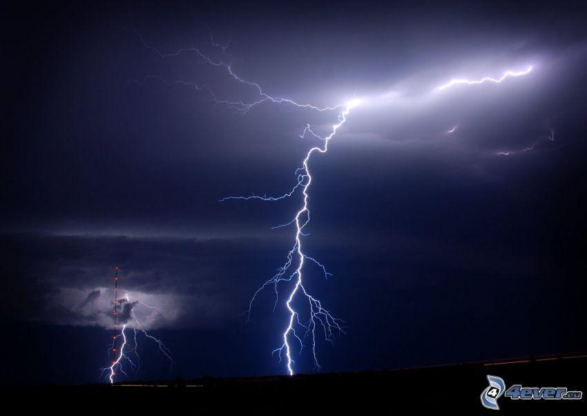 fulmini, tempesta