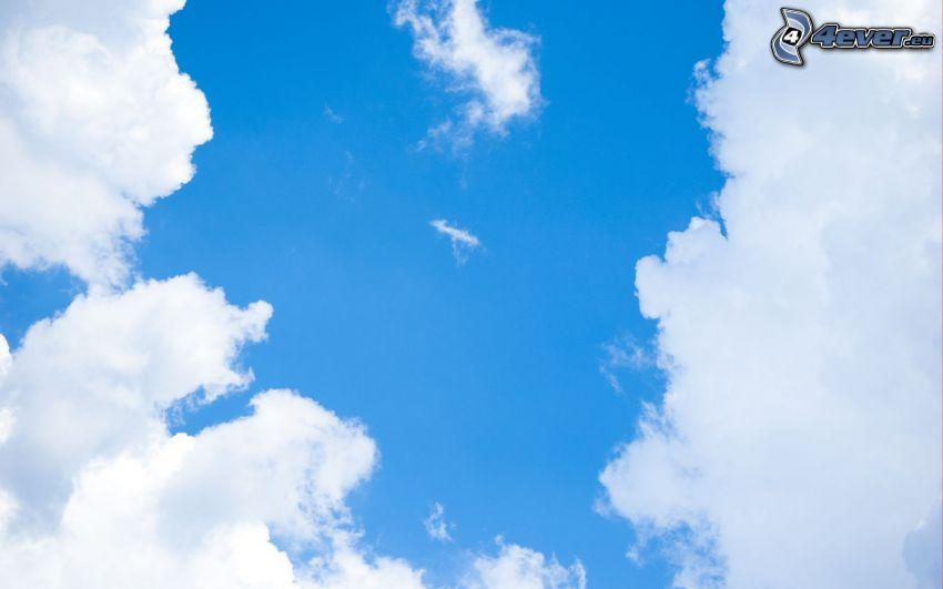 nuvole, cielo blu