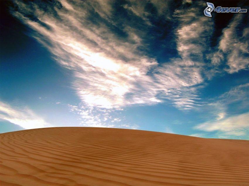 deserto, nuvole