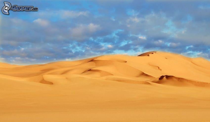 deserto, sabbia, nuvole