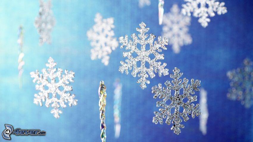 fiocchi di neve, decorazioni