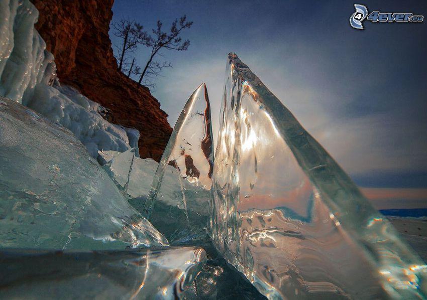 ghiaccio, macro