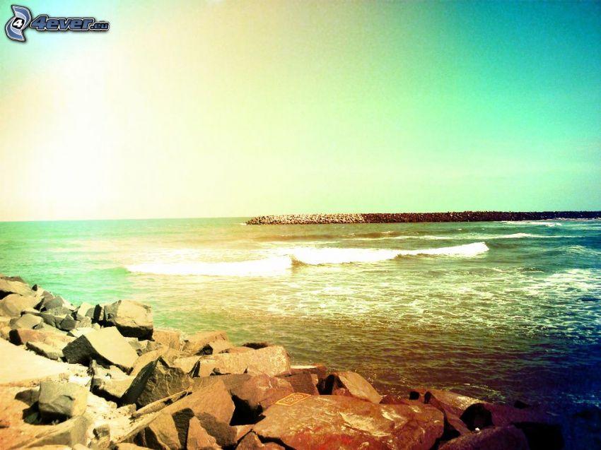 alto mare, costa rocciosa