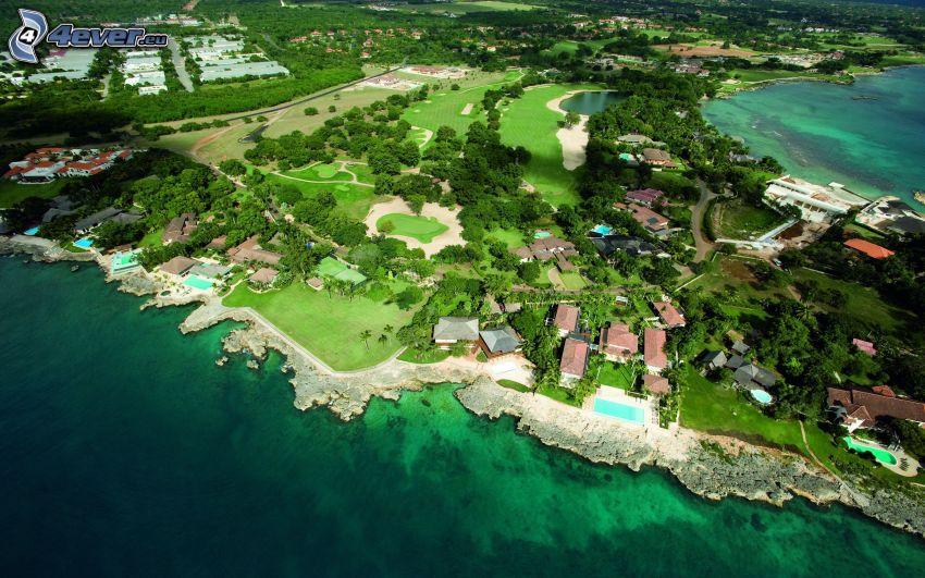 casa vacanza di fronte al mare, costa, mare, vista aerea
