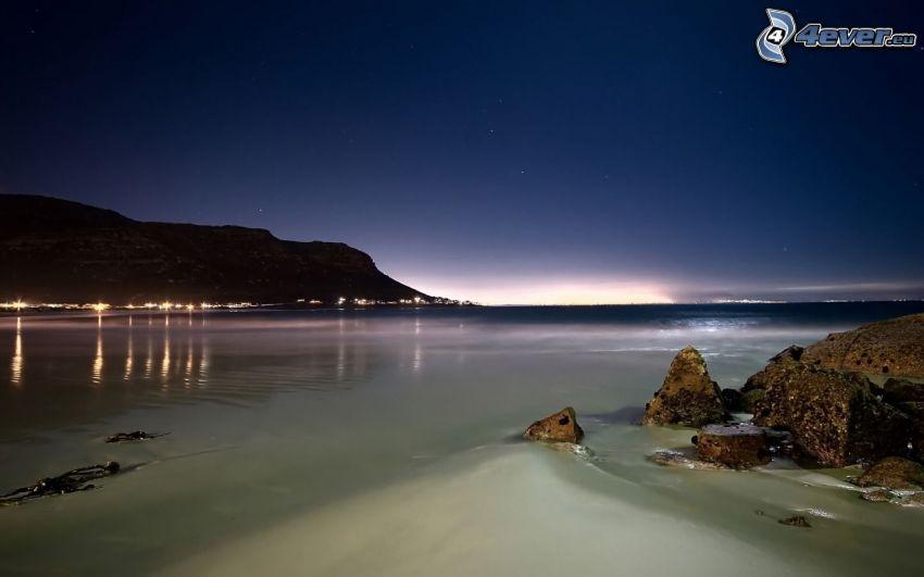 costa di notte, mare
