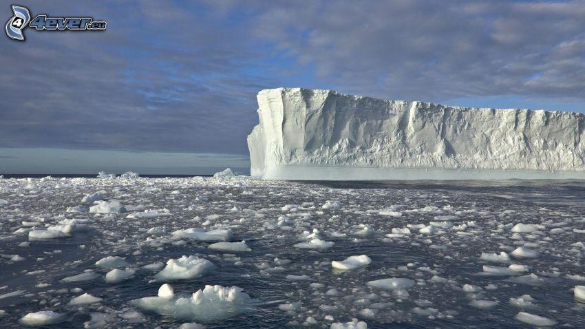 ghiacciaio, lastre di ghiaccio
