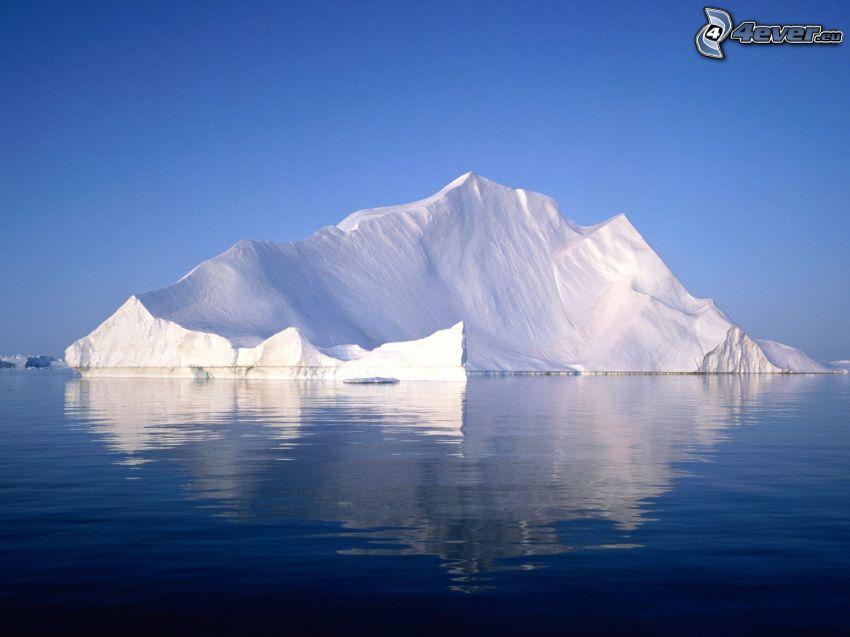 isola, ghiacciaio, mare