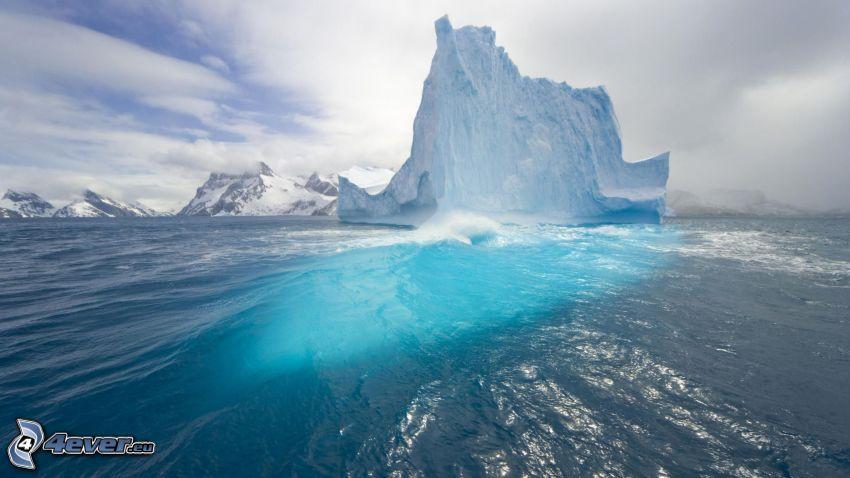 isola, ghiacciaio, montagna