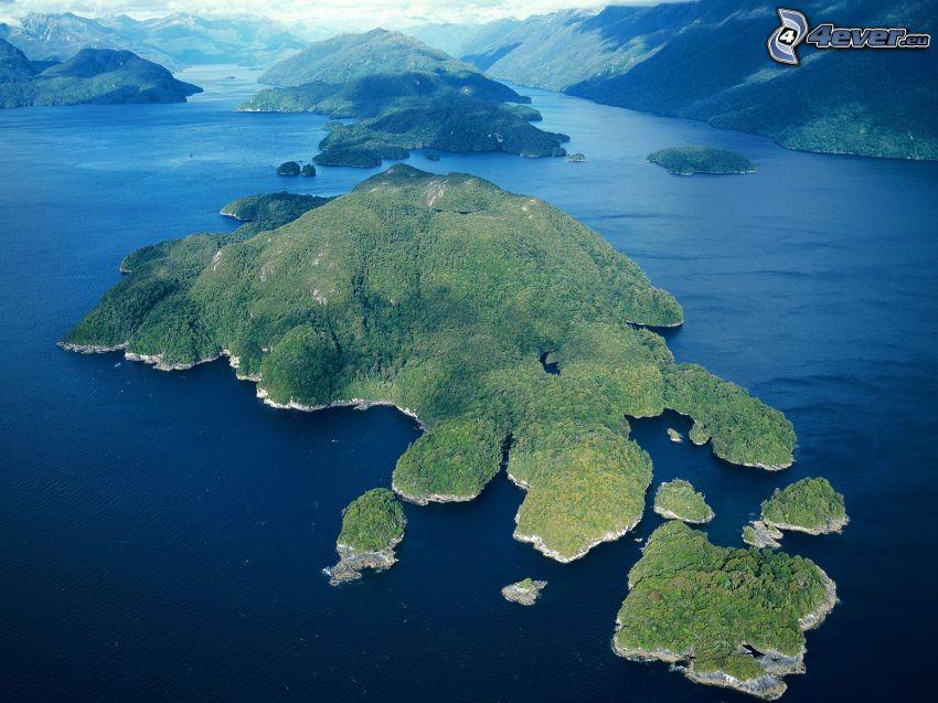 isole, Nuova Zelanda, mare