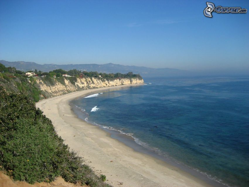 Malibu Beach, California, oceano Pacifico