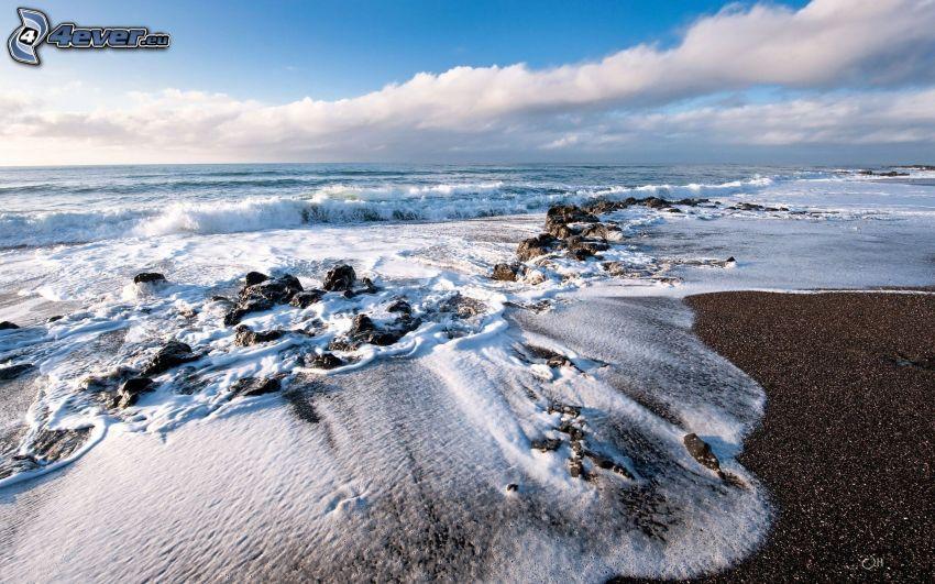 mare, rocce nel mare, costa