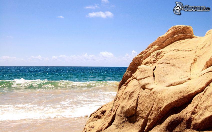 mare, roccia, spiaggia
