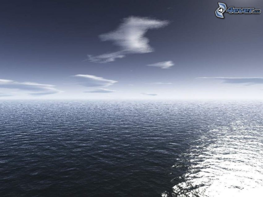 mare oscuro, nuvole