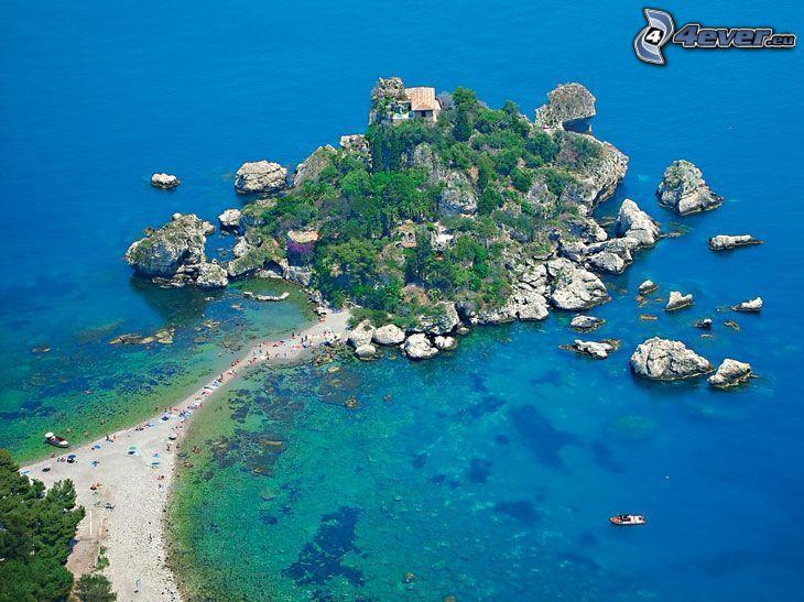 penisola, laguna, chalet, imbarcazione