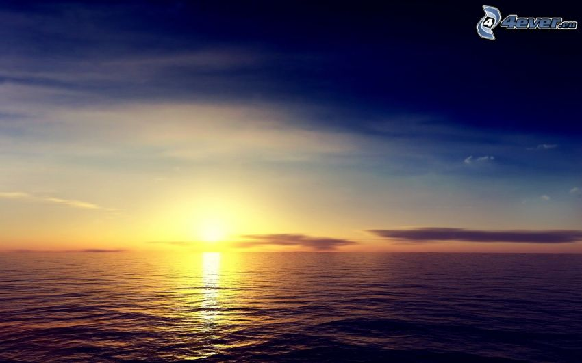 tramonto sul oceano
