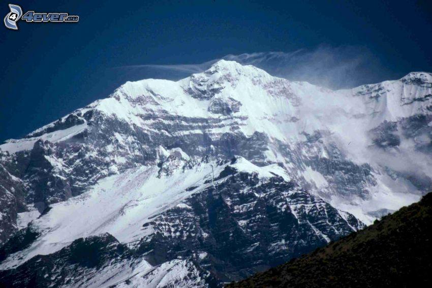 Aconcagua, montagne innevate
