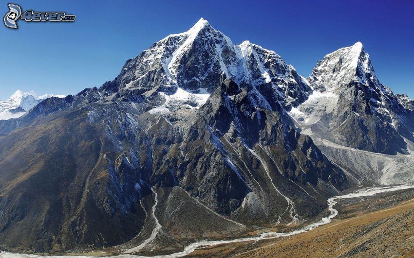 Everest, montagne rocciose