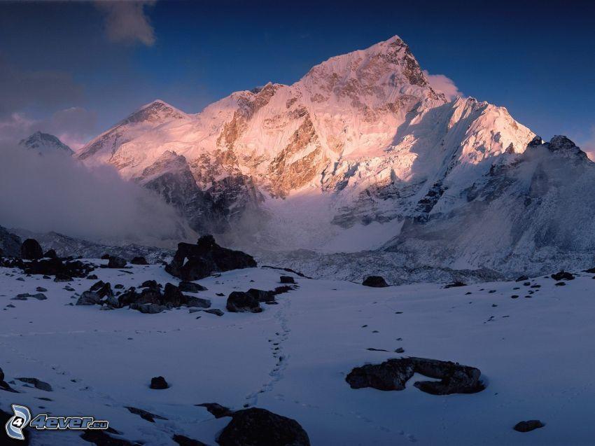 Himalaya, collina, neve