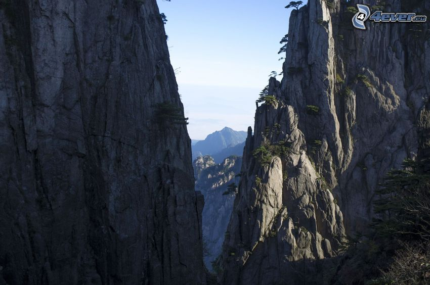 Huangshan, montagne rocciose