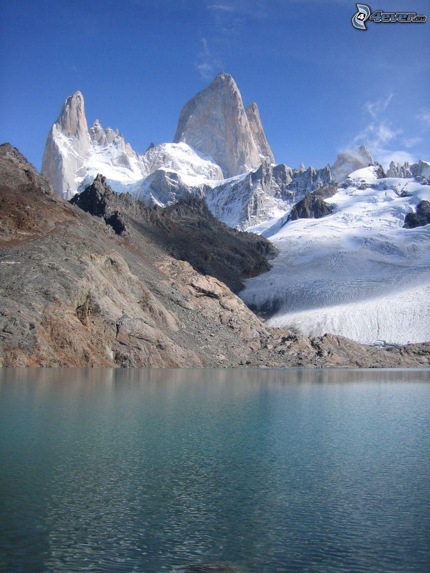 lago di montagna, montagne