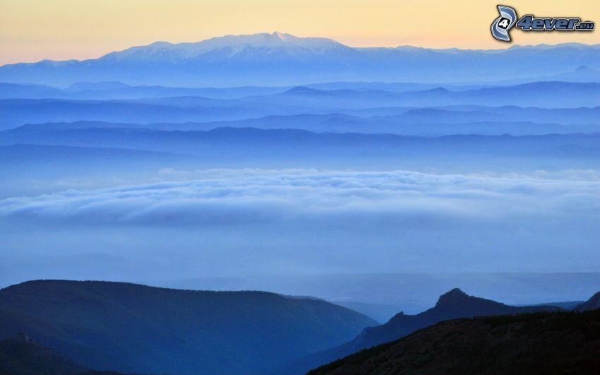 montagne, inversione termica