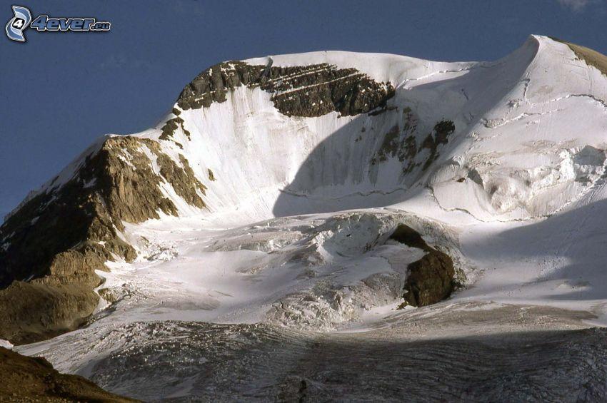 Mount Athabasca, collina rocciosa, neve