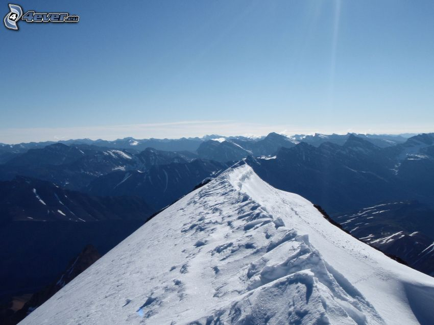 Mount Athabasca, montagne rocciose, neve