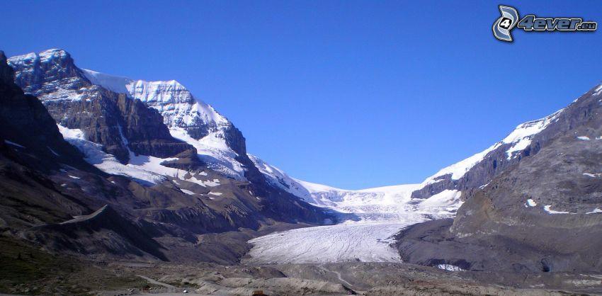 Mount Athabasca, montagne rocciose