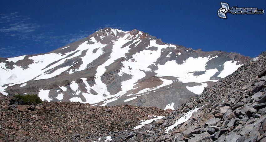 Mount Shasta, montagna rocciosa