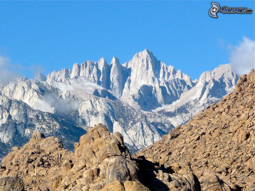 Mount Whitney, montagne rocciose
