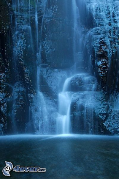 cascata, acqua, natura
