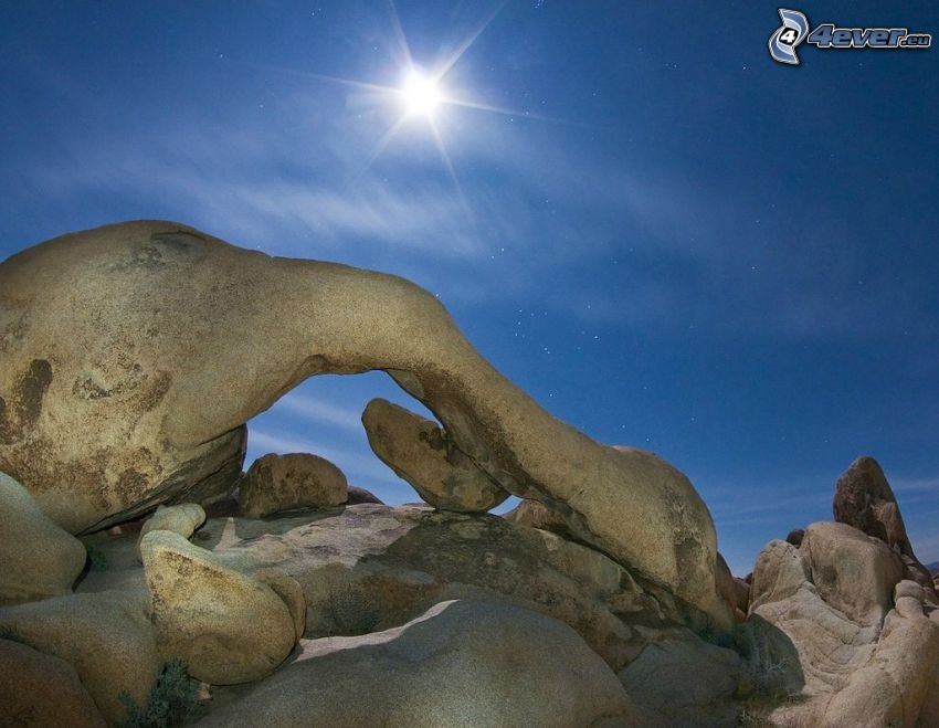 Joshua Tree National Park, USA, luna, stelle