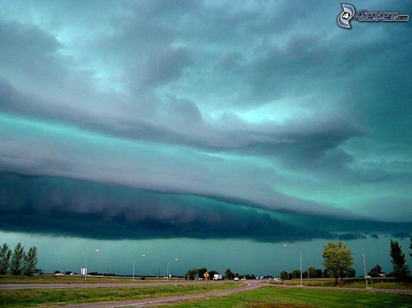 nuvole scure, uragano, Katrina
