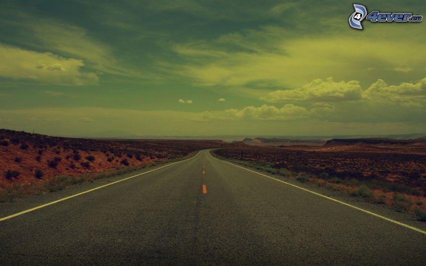 strada, deserto