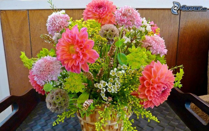 bouquet, fiori rossi