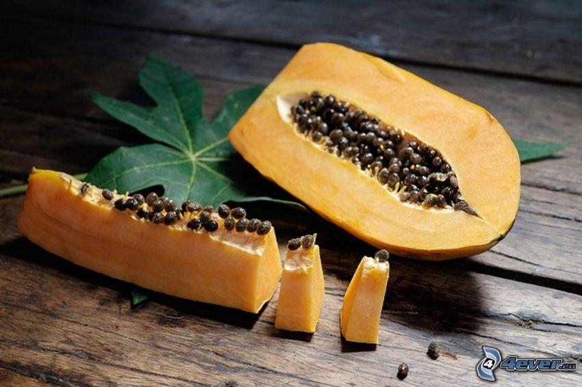papaya, foglia verde