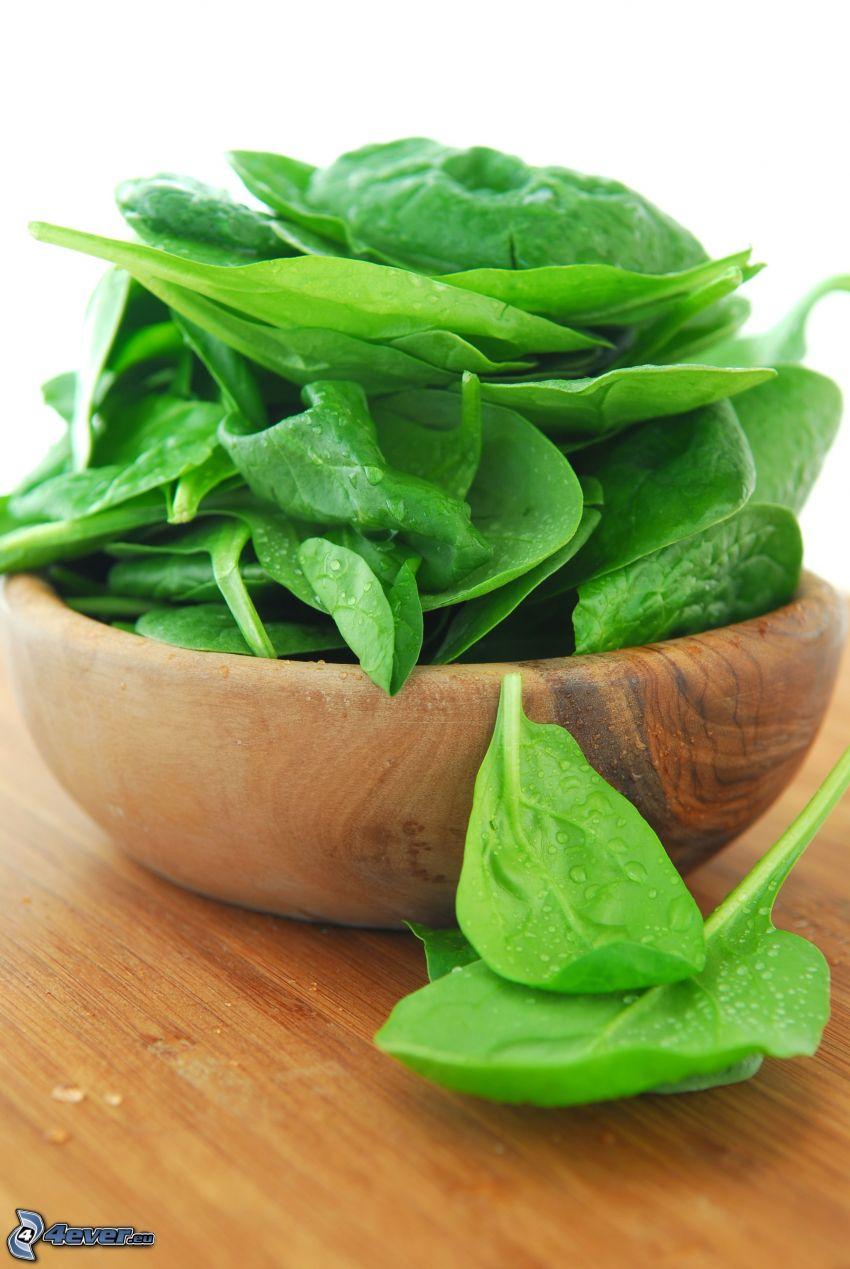 spinaci, ciotola