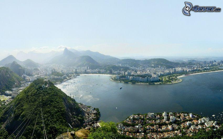 Rio De Janeiro, vista della città, baia