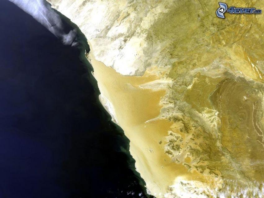 costa, immagini satellitari