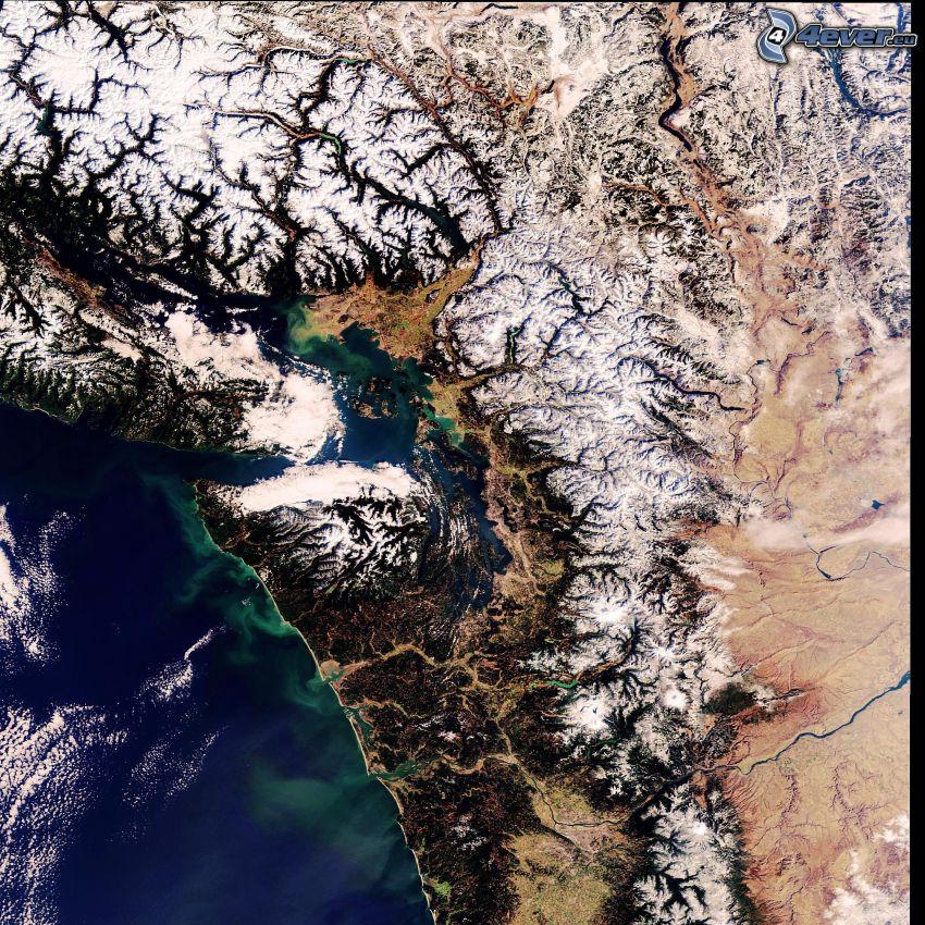 immagini satellitari, mare