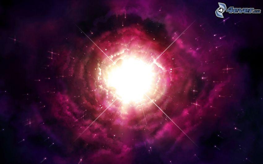 luce di universo, nebulose