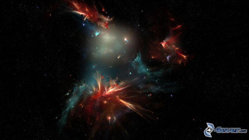 nebulose, cielo stellato