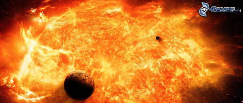 pianeta, esplosione nello spazio