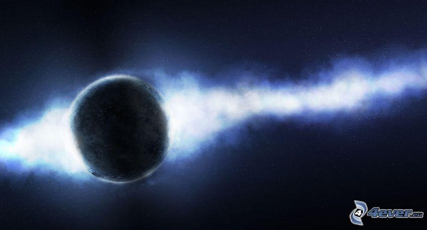 pianeta, luce di universo