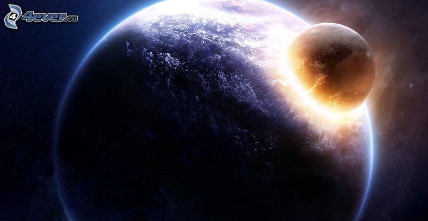 pianeti, collisione nello spazio