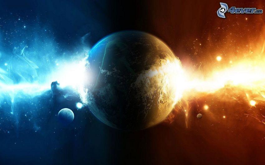 pianeti, luce di universo