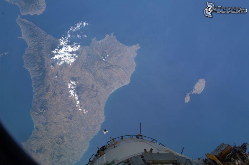 Sicilia, Italia, immagini satellitari, Stazione Spaziale Internazionale ISS