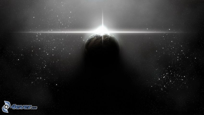 Sole dietro la Terra, stelle